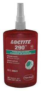 Loctite 290 Threadlocker Wicking Grade Medium Strength Green 250 Ml 29041