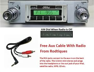 1942 1948 Ford Full Size Car Stereo Radio Free Aux Cable Stereo 230