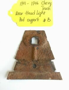 Used Original Rear Headlight Pod Support For 1941 46 Chevy Truck B