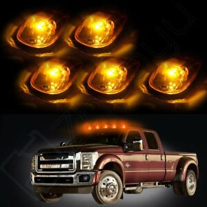 5 264145bk Cab Marker Light Amber Lens T10 Warm White Led For 99 02 Dodge