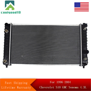 1826 Radiator For 1996 2004 Chevrolet S10 Gmc Sonoma 4 3l Fast Shipping