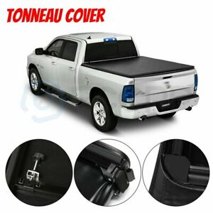 For 2015 2019 Ford F 150 5 5 Ft Bed Soft Tri Fold Tonneau Cover Textured