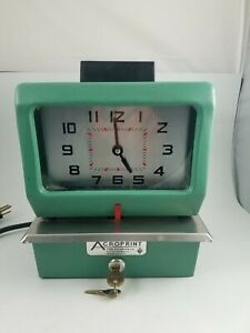Vintage Acroprint Time Recorder Auto Punch Clock 125nr4 2 Keys Manual Works