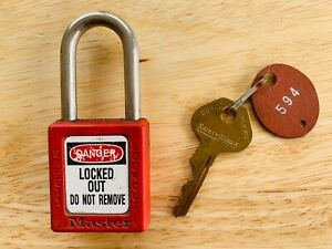 Master 410 Loto Padlock With Key Locaport Lockout Tagout Keyed Different