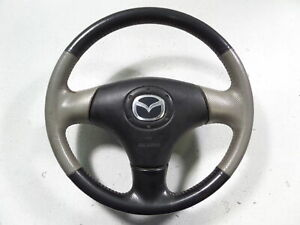 Mazdaspeed Protege Msp Steering Wheel Two Tone W A Bag Yellow Stitch Fc Rx7 Oem