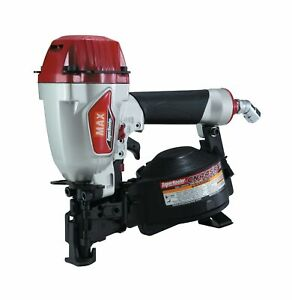 Max Cn445r3 Coil Roofing Nailer Dial Adjustable Tar Resistant Nose Air Powered