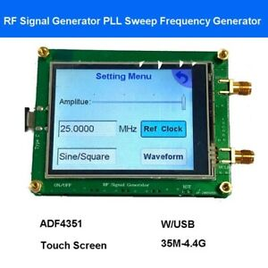 35m 4 4g Rf Signal Generator Sweep Source Frequency Generator Usb Touch Screen