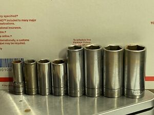 S K Tools 3 8 Drive 6pt Sae Deep Socket Set 8pc 4408 Usa 3 8 To 13 16 Complete