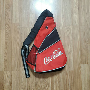 Unique Rare Coca Cola Crossbody Small Round Canvas Red Bag