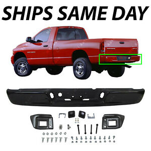 New Primered Black Rear Step Bumper Assembly Replacement For 2002 2008 Dodge Ram