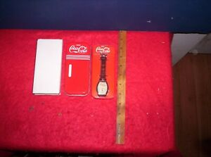 Coca Cola Watch with Leather Band Collectors Item in Coca Cola Collectors Tin