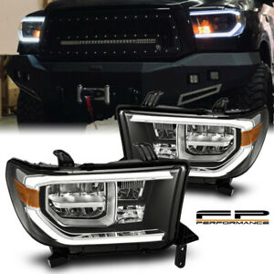 For 07 13 Tundra 08 17 Sequoia Trd Design Sequential Signal Full Led Headlights