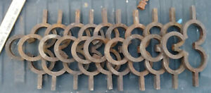 Architectural Salvage Wrought Iron Fence Gate Sections Clover Circles Lot Of 10