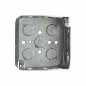 Metal Electrical Outlet Box Switch Deep Square Wall Case Flush Mount 2 Gang 50ct
