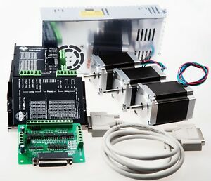 us Free Ship 3axis Nema 23 Stepper Motor 425 Oz in 3a driver Power Promotion