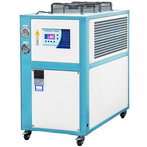 5 Ton Air cooled Industrial Chiller 15kw Lcd Display Stainless Steel Water Tank