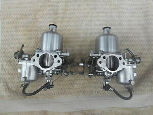 Datsun 240z Carbs Rebuilt Polished Twin 4 Screws Round Top Su Carburetors