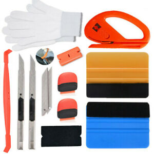 Vinyl Wrap Application Tools Kit Micro Squeegee Film Knife 10 Blades Window Tint