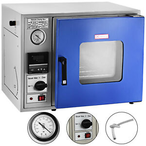 0 9cu Ft Vacuum Drying Oven 23l Lcd Display 450w Heating Power Air Convection Us