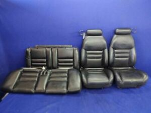 1994 1995 1996 1997 1998 Ford Mustang Cobra Black Leather Front Rear Seats Coupe