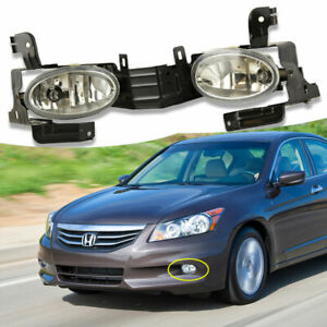 Fit Honda Accord 2011 2012 Clear Fog Lights Driving Lamp Oe Replacement Assembly