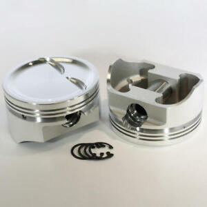Dss Piston Set 8717 4030 4 030 Bore 18cc Dish For Chevy 383 Sbc 350 Stroker