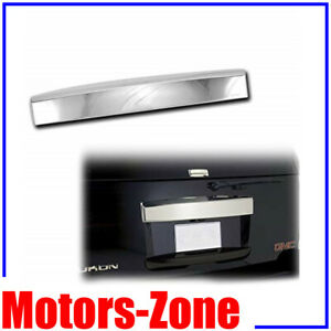 For 07 14 Chevy Tahoe Suburban Chrome Top Liftgate Molding Rear Hatch Cover