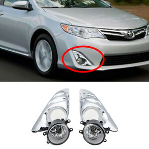 Pair Clear Fog Lights For 2012 2013 2014 Toyota Camry L xle le Bumper Fog Lamps