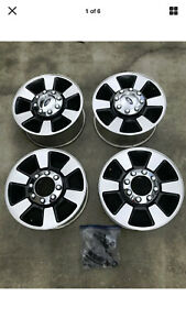 Set Of 4 18 Ford F250 F350 Super Duty Factory Charcoal Wheels Used