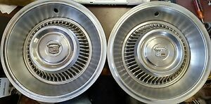 1963 1964 Cadillac Deville Fleetwood Wheel Covers Hubcaps Set Of 2