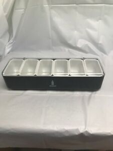 Absolut Garnish Tray 6 Compartments Bar Man Cave Condiment Caddy Never Used