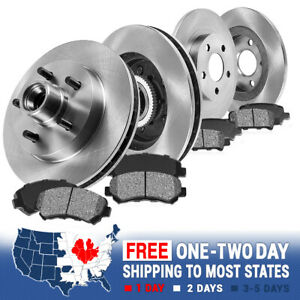 For 1999 Ford F150 2wd Front And Rear Premium Oe Brake Rotors Metallic Pads