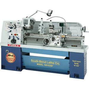 South Bend Sb1039f 14 X 40 16 speed 220v 3 phase Lathe With Fagor Dro
