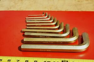 Snap On Tools Usa 10 Pc Allen Hex L Shape Wrench Driver Set Metric 4mm 19mm