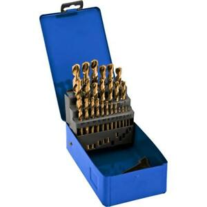 Grizzly T26516 Metric Drill Bit Set Tin Coated 25 Pc