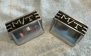 2 1960s Mickey Thompson Valve Cover Aluminum Breathers Rare Vintage