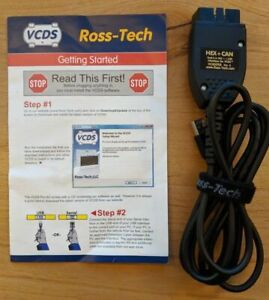 7 day Rental Ross tech Cable Hex can Usb Scanner Vcds Vw Audi With Software