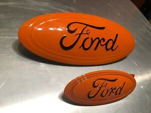 2020 Explorer Custom Painted Emblem Set 9 5 Orange Black all Ford Colors