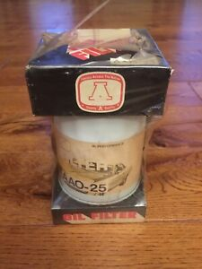 Vintage Auto Oil Filter Aao 25 Double a Hi performance New Old Stock