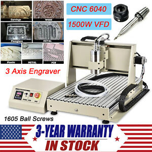 3 Axis Cnc 6040 Router Engraving Drilling Machine Miller 1500w Cutter Engraver