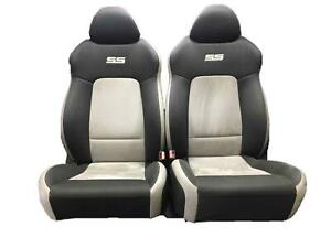 08 10 Cobalt Ss Oem Left Right Front Bucket Seats Cloth Gray Suede 13e Pair