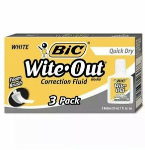 Bic Wite out Quick Dry Correction Fluid 20 Ml Bottle White