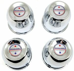 4x Chrome Center Caps Push thru 4 25 Fits American Racing Ar767 Ar62 1425002