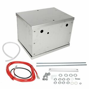 Complete Aluminum Battery Box Relocation Kit Universal Billet Race W Cables