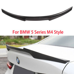 For Bmw Bmw F10 5 Series 2009 2017 Rear Carbon Fiber Trunk Spoiler Wing