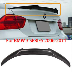 For Bmw E90 3 Series 2006 2011 Rear Carbon Fiber Trunk Spoiler Wing