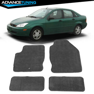 Fits 00 07 Ford Focus Sedan Floor Mats Carpet Front Rear Gray Nylon 4pc