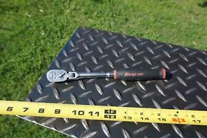 Snap On Thlf72 1 4 Drive Flex Head Ratchet Black Red Soft Grip Made In Usa