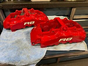 2011 Audi R8 Brake Calipers Front 8 Piston Brembo Left Right