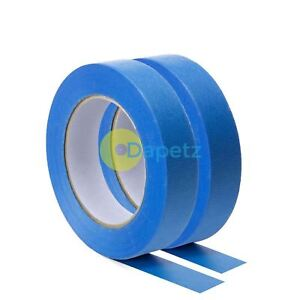 Blue Masking Tape Clean Peel Uv Resistant Painters decorators 24mm X 50m